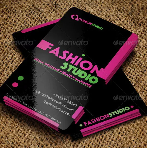 Fashion Studio Business Card Template