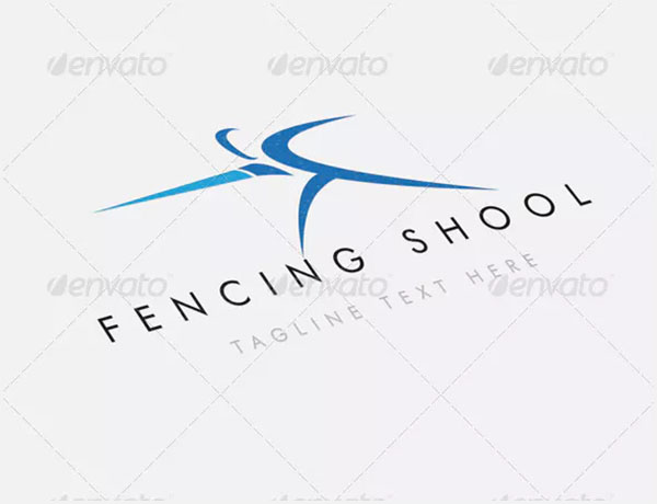 Fencing School Logo Template