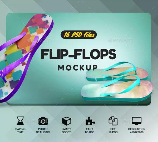 3192cf6c4d5e 30+ Flip Flop Mockups - Free PSD