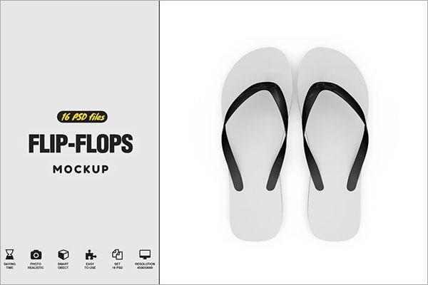 b483e78fe 30+ Flip Flop Mockups - Free PSD