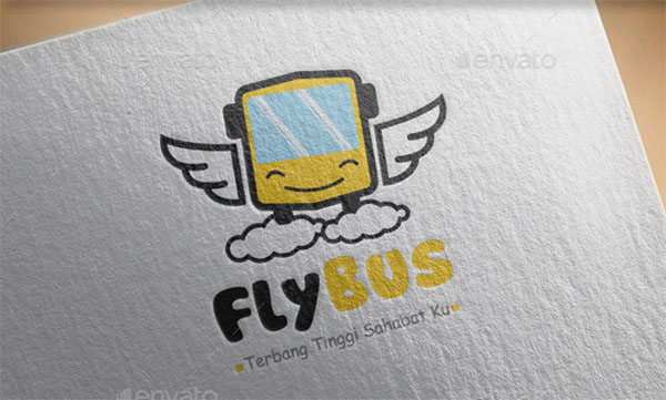 Fly Bus Logo Template