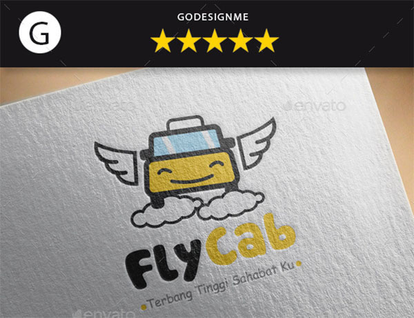Fly Cab Logo Template