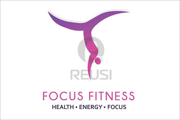 Focus Fitness Logo Template