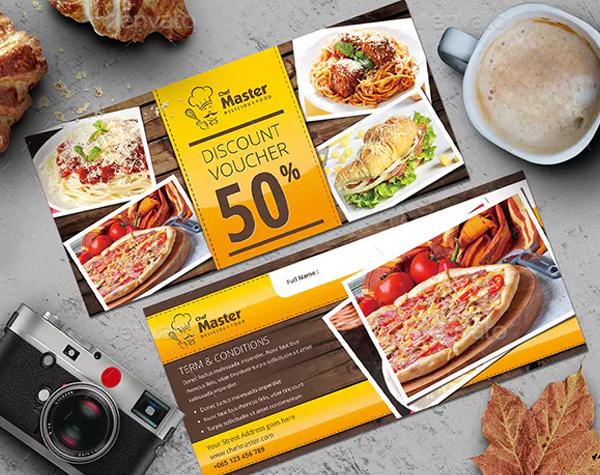Food Discount Voucher Template