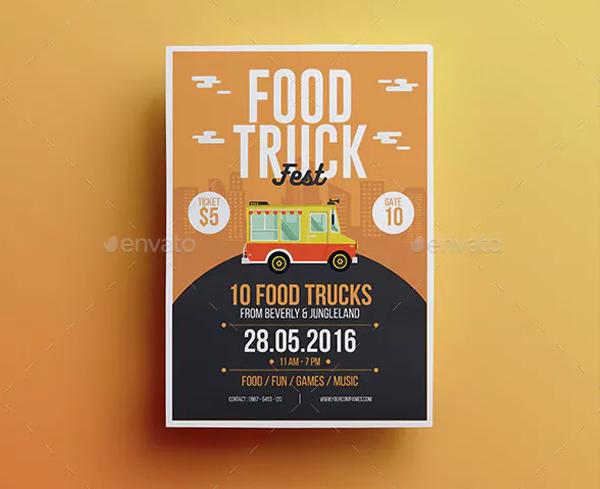 Food Truck Fest Flyer Template