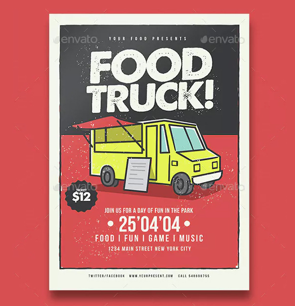 Food Truck Flyer & Poster Template