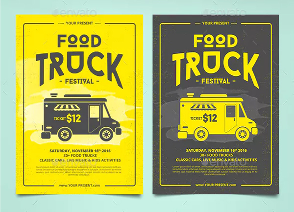Food Truck Flyer & Poster