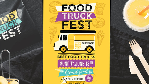 Food Truck Flyer Templates