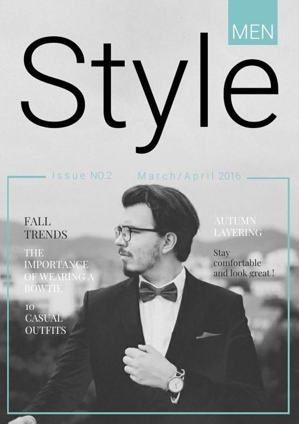 Free Men's Style & Fashion Portfolio Template