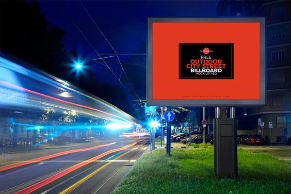 Free Outdoor Bus Stop Billboard Mockup for Advertisement