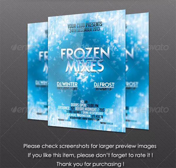 Frozen Mixes Flyer Template