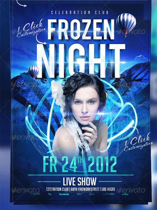 Frozen Night Flyer Template