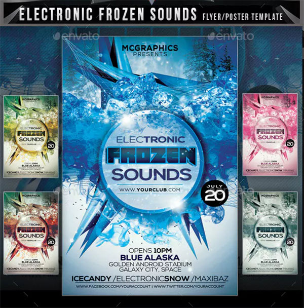 Frozen Sounds Flyer Template
