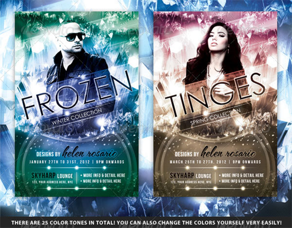 Frozen Winter Fashion Flyer