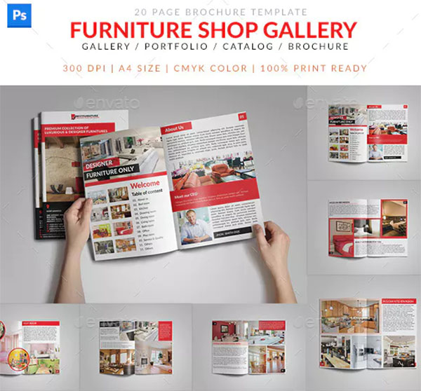 Furniture Shop Product Catalog Brochure