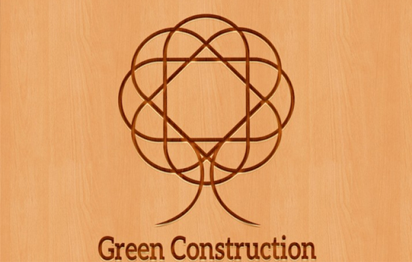 Green Construction Logo Template