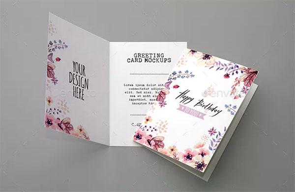 Greeting Card Mockups Template