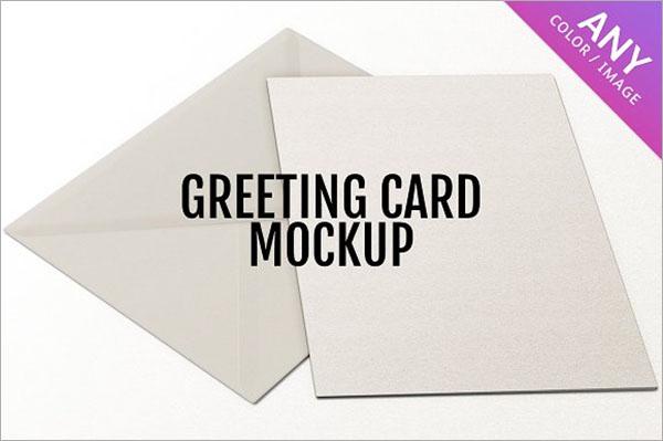 Greeting Card PSD Mockup Design