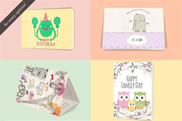 Greeting Cards 5 x 7 Mockup Bundle