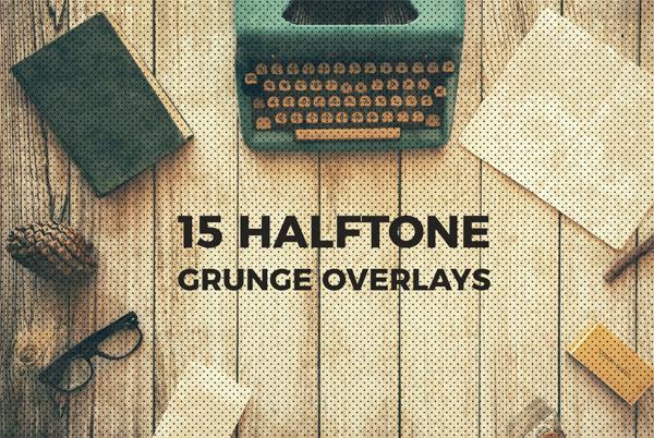 Halftone and Grunge Overlays