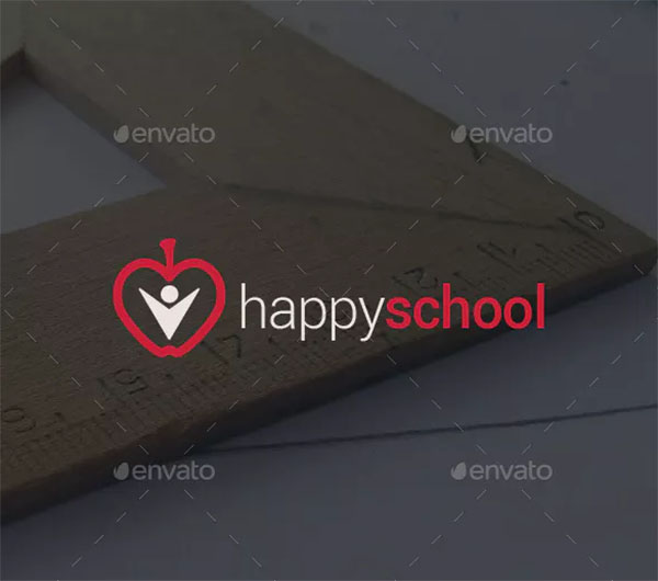 Happy School Logo Template