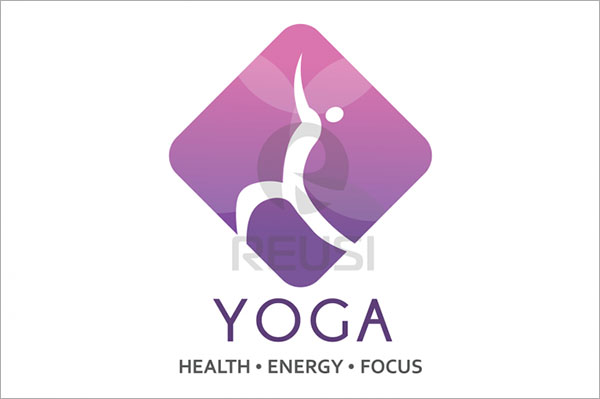 Health Yoga Logo Template