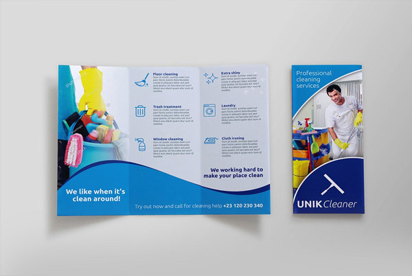 Industrial Cleaning Brochure Templates