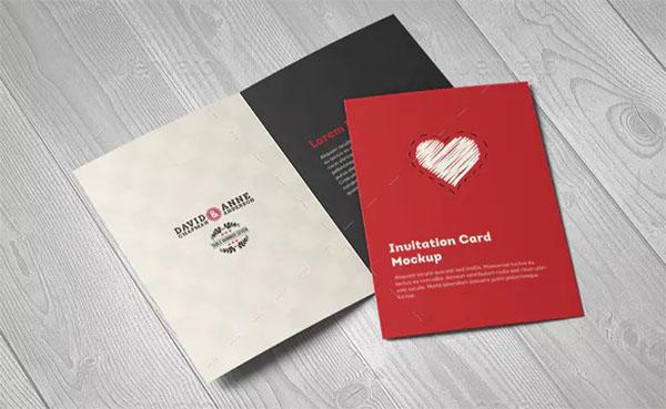 Invitation & Greeting Card A5 Mockup