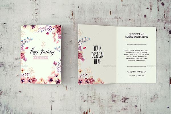 Invitation & Greeting Card Mockup Design