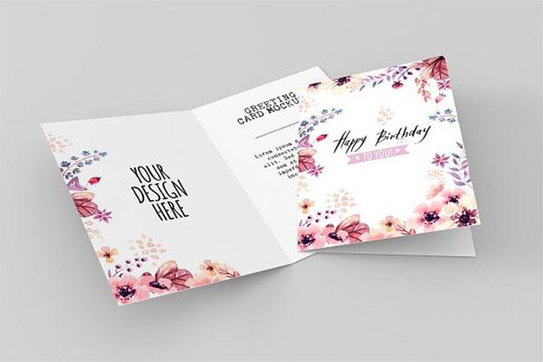 Invitation & Greeting Card Mockup PSD Design