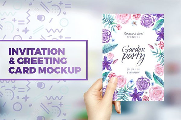 Invitation & Greeting Card PSD Mockup