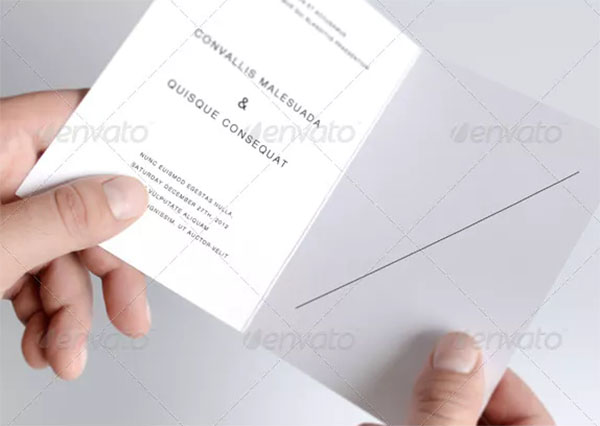 Invitation and Greeting Card Mock-Up Template