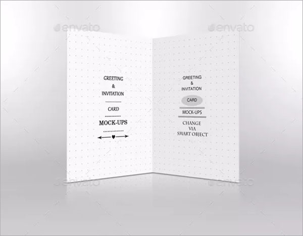 Invitation and Greeting Card Mockup PSD Design