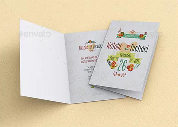 Invitation and Greeting Card Mockup