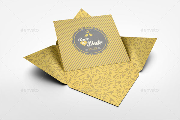 Invitation and Greeting PSD Card Mockup