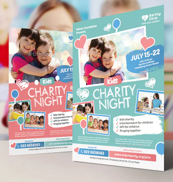 Kids Charity Event Flyer Template