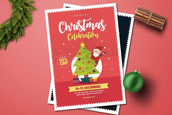 Kid's Christmas Celebration Flyer Template