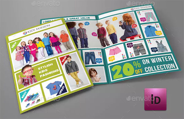 Kids Fashion Products Catalog Template