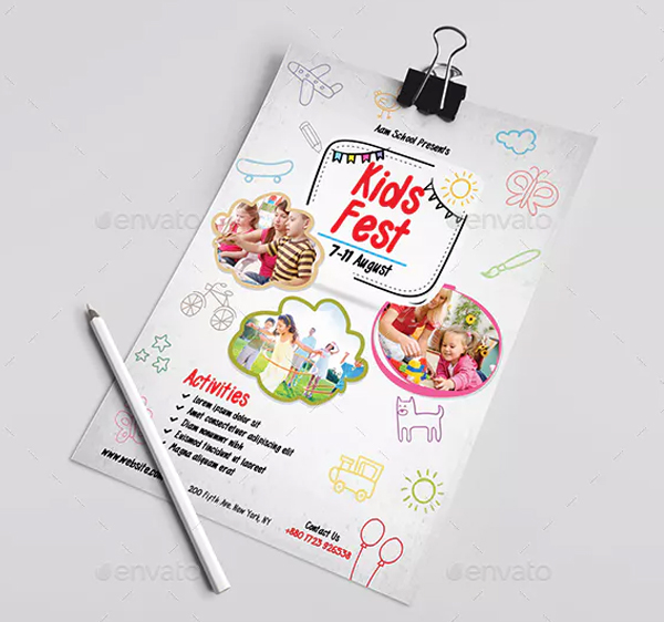 Kids Fest Care Flyer Template