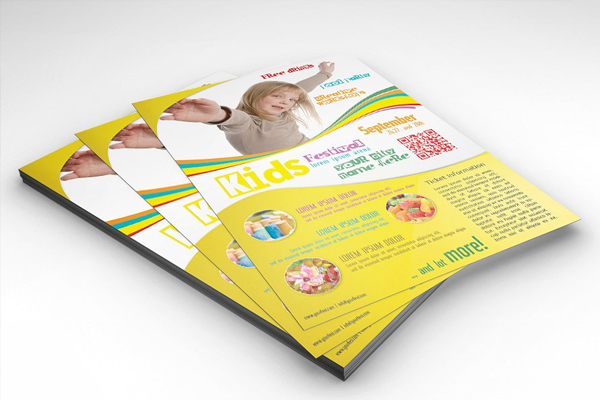 Kids Festival Celebrations Flyer Template