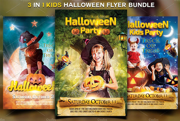 Kids Halloween Fest Flyers Bundle