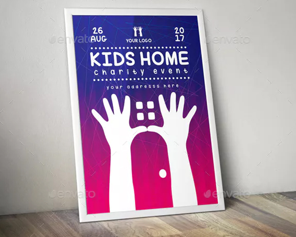 Kids Home Charity Event Flyer Design