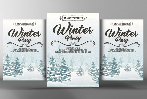 Kids Winter Festival Flyer and Poster Template