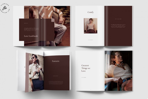 Love Men's Fashion Lookbook and Magazine Template