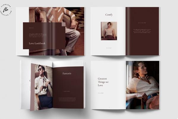 Love Men's Fashion Lookbook and Magazine Template