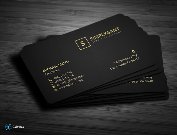 Luxurious Studio Business Cards