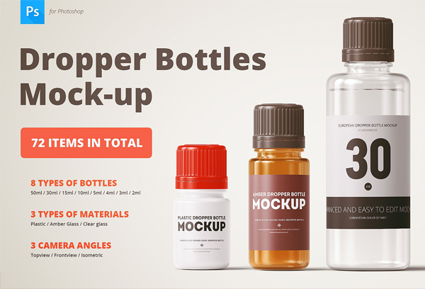 Medicine Dropper Bottle Mockup
