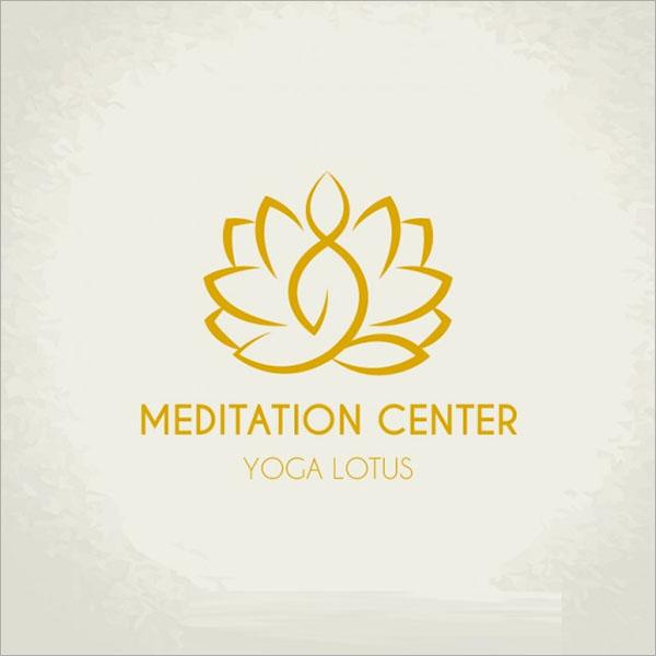 Meditation Center Logo Free Vector