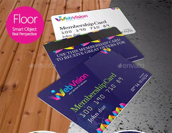 Membership Card and Credit Card Mockup