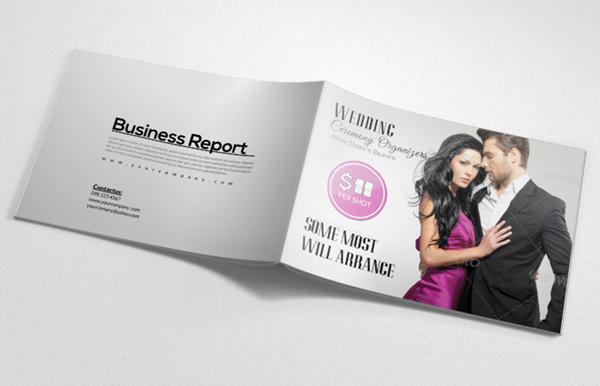 Men Fashion Magazine Bifold Brochure Design Template
